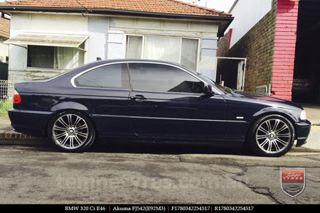 17x8.0 E92M3 on BMW 3 SERIES