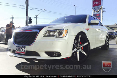 22x9.5 Incubus 842 on CHRYSLER 300C SRT8