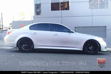 20x8.5 20x9.5 Lenso Conquista 5 SB CQ5 on BMW 5 SERIES