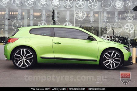 18x8.0 AN Style5436 on VW SCIROCCO