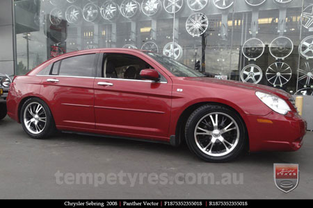18x7.5 Panther Vector on CHRYSLER SEBRING