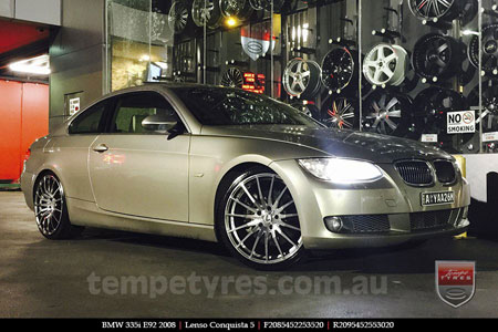 20x8.5 20x9.5 Lenso Conquista 5 CQ5 on BMW E92