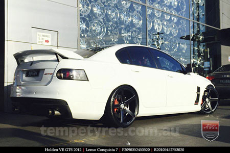 20x9.0 20x10.5 Lenso Conquista 7 MKS CQ7 on HOLDEN VE GTS