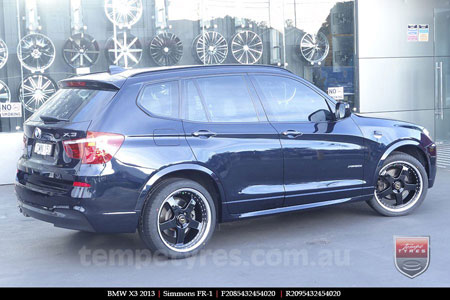 20x8.5 20x9.5 Simmons FR-1 Gloss Black on BMW X3