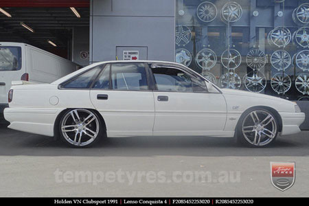 20x8.5 20x9.5 Lenso Conquista 4 CQ4 on HOLDEN VN