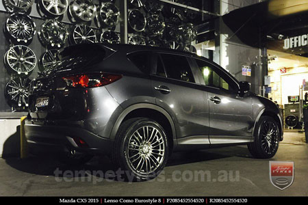 20x8.5 Lenso Como Shadow on MAZDA CX5