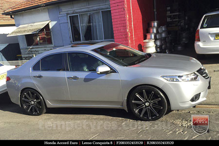 20x8.5 20x9.5 Lenso Conquista 8 CQ8 on HONDA ACCORD EURO