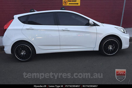 17x7.0 Lenso Type-M - MBJ on HYUNDAI i20