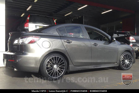 18x8.0 Lenso Eurostyle C ESC on MAZDA 3 SP25