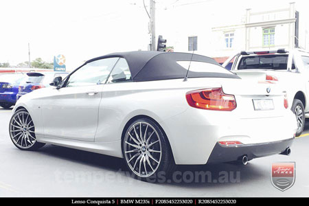 20x8.5 20x9.5 Lenso Conquista 5 CQ5 on BMW M235i
