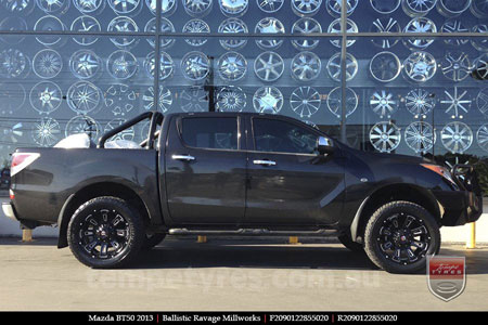 20x9.0 Ballistic Ravage Millworks on MAZDA BT50