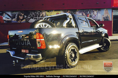 17x9.0 Ballistic Ravage Flat Black on TOYOTA HILUX SR5