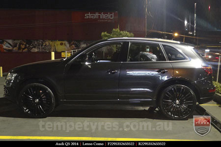 22x9.5 Lenso Como Black on AUDI Q5