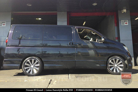 18x8.5 Lenso Bella on NISSAN ELGRAND