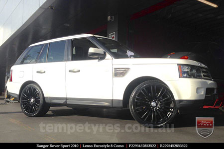 22x9.5 Lenso Como Black on RANGE ROVER SPORT