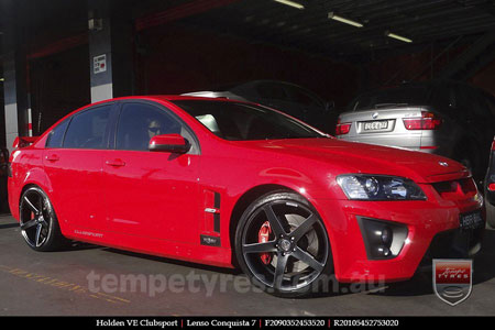 20x9.0 20x10.5 Lenso Conquista 7 MKS CQ7 on HOLDEN VE CLUBSPORT