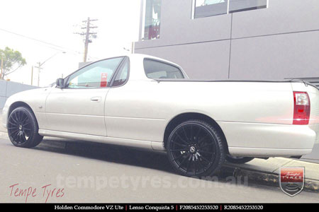 20x8.5 20x9.5 Lenso Conquista 5 SB CQ5 on HOLDEN VZ UTE