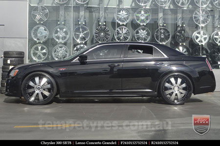 24x10 Lenso Concerto - BKQ on CHRYSLER 300 SRT8