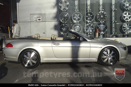 22x8.5 Lenso Concerto - BKQ on BMW 650i