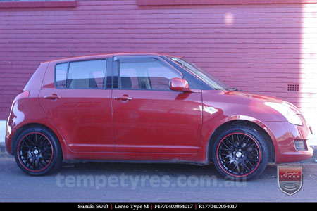 17x7.0 Lenso Type-M - MBRG on SUZUKI SWIFT