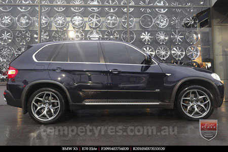 20x9.5 20x10.5 E70 Elite on BMW X5