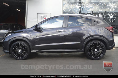 20x8.5 Lenso Como Black on HONDA HRV