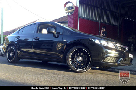 17x7.0 Lenso Type-M - MBJ on HONDA CIVIC