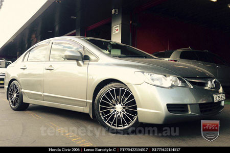 17x7.5 Lenso Eurostyle C ESC on HONDA CIVIC