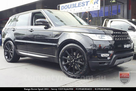 22x9.5 Style5930 Satin Black on RANGE ROVER SPORT
