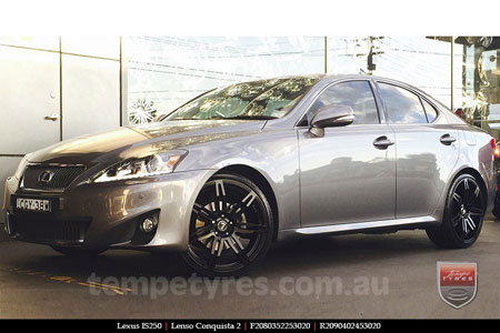 20x8.0 20x9.0 Lenso Conquista 2 SB CQ2 on LEXUS IS250