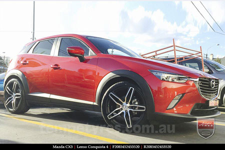 20x8.5 20x9.5 Lenso Conquista 4 CQ4 on MAZDA CX3
