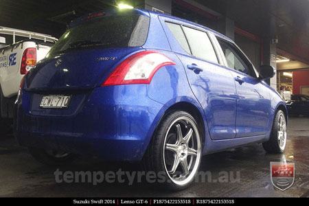 18x7.5 Lenso GT-6 Shadow on SUZUKI SWIFT