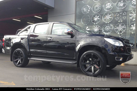 22x9.5 Lenso RT-Concave on HOLDEN COLORADO