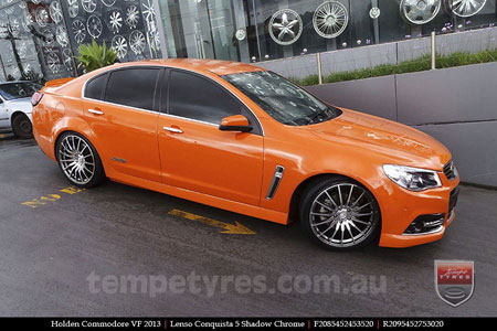 20x8.5 20x9.5 Lenso Conquista 5 CQ5 on HOLDEN COMMODORE