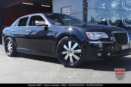 22x9.5 Lenso Concerto - BKQ on CHRYSLER 300C