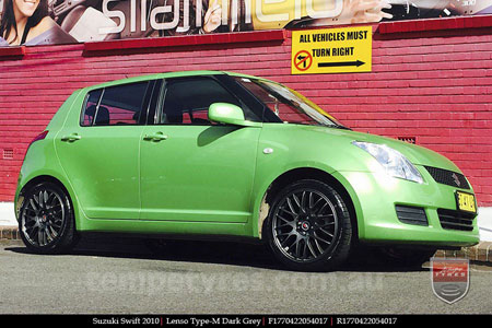 17x7.0 Lenso Type-M - DG on SUZUKI SWIFT
