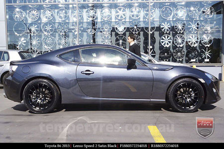 18x8.0 Lenso Speed 2 SP2 on TOYOTA 86