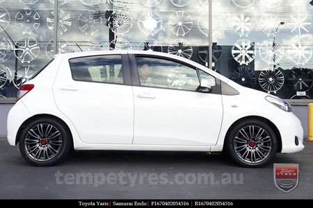 16x7.0 Samurai Endo HDF on TOYOTA YARIS