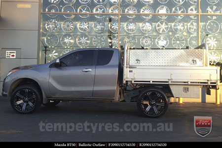 20x9.0 Ballistic Outlaw on MAZDA BT50