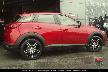 18x8.0 18x9.0 Lenso Conquista 4 CQ4 on MAZDA CX3