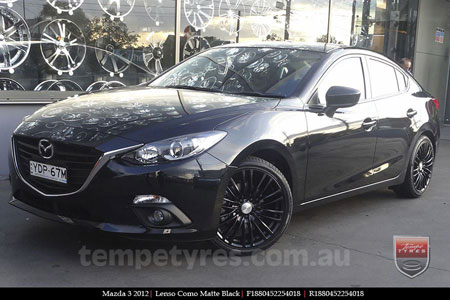 18x8.0 Lenso Como - MB on MAZDA 3