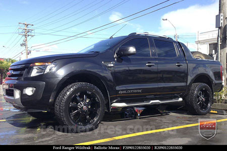 20x9.0 Ballistic Morax on FORD RANGER WILDTRAK