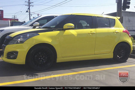 17x7.0 Lenso Speed 3 SP3 on SUZUKI SWIFT