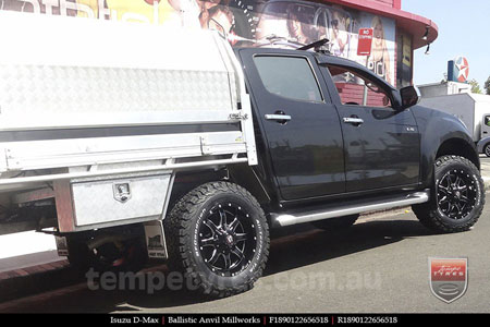 18x9.0 Ballistic Anvil Millworks on ISUZU D-MAX