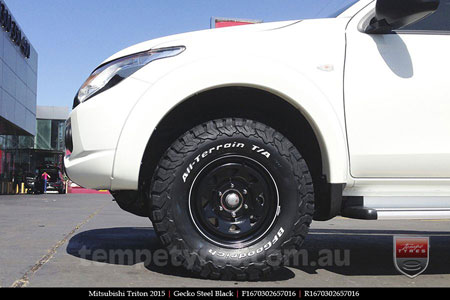 16x7.0 Gecko Steel Black on MITSUBISHI TRITON
