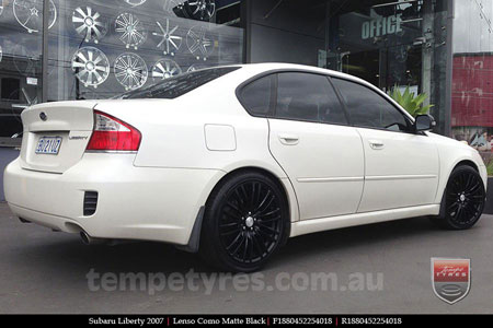 18x8.0 Lenso Como Black on SUBARU LIBERTY