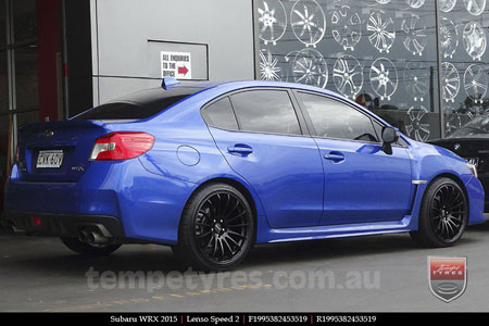 19x8.5 19x9.5 Lenso Speed 2 SP2 on SUBARU WRX
