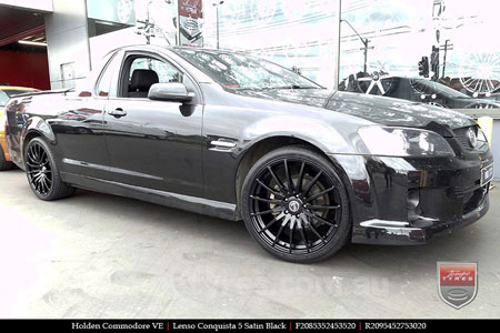 20x8.5 20x9.5 Lenso Conquista 5 SB CQ5 on HOLDEN COMMODORE VE