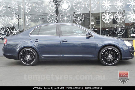 18x8.0 Lenso Type-M MBJ on VW JETTA