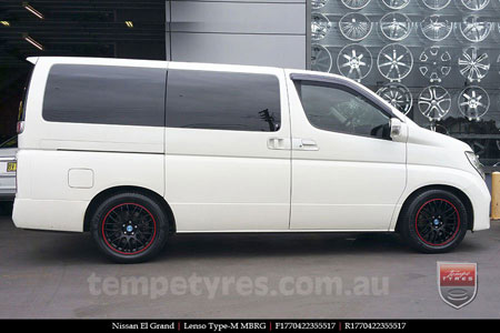 17x7.0 Lenso Type-M - MBRG on NISSAN ELGRAND